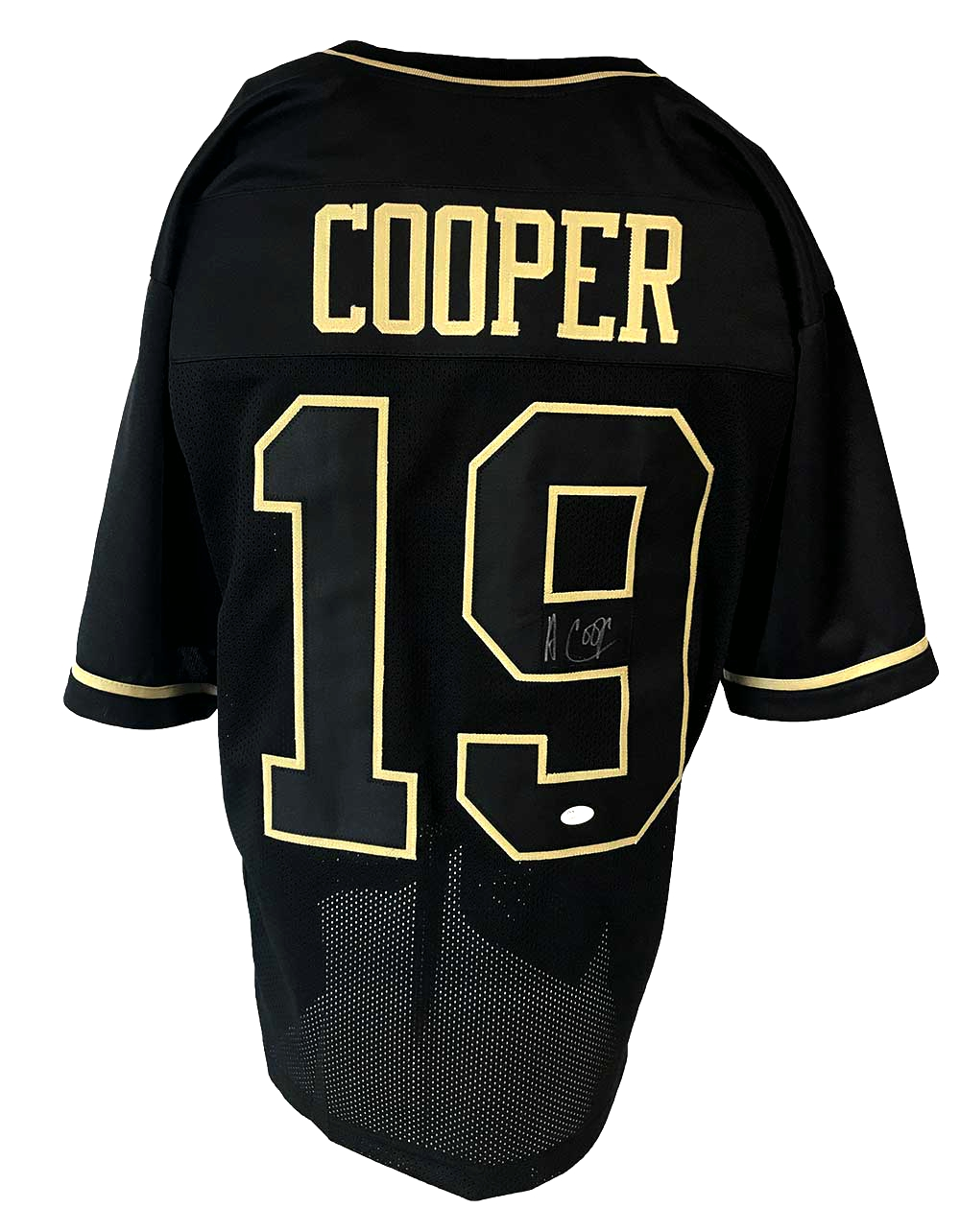 new arrival e7033 ccc35 Amari Cooper Autographed Pro Style Black and Gold Jersey JSA Authenticated